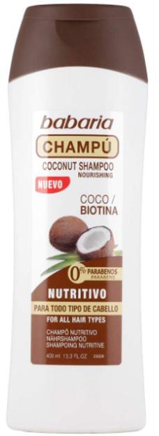 Babaria Szampon z olejkiem kokosowym i biotyną 400 ml