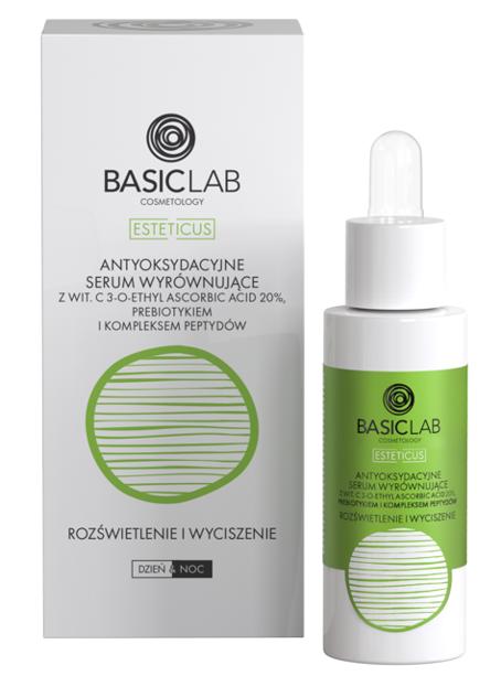 BasicLab Rozświetlenie i wyciszenie Antyoksydacyjne serum wyrównujące z witaminą C 20% 30ml