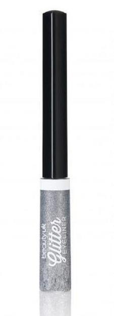 Beauty UK Glitter Liquid Eyeliner - Połyskujący eyeliner w płynie 1 Silver
