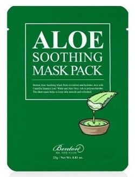 Benton ALOE Soothing Mask Pack Kojąco-regenerująca maska do twarzy 23g