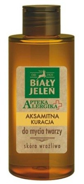 Biały Jeleń Apteka Alergika Aksamitna kuracja do mycia twarzy 150ml