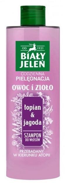 Biały Jeleń Szampon do włosów Łopian&Jagoda 400ml