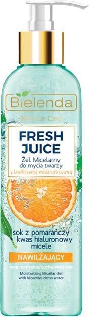 Bielenda FRESH JUICE Nawilżający żel micelarny Pomarańcza 190g