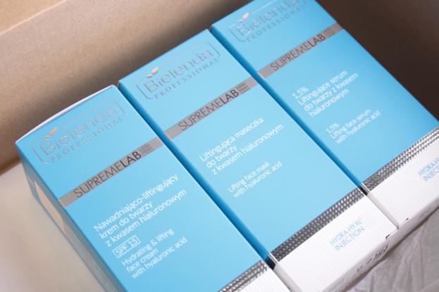Bielenda Professional SupremeLab Zestaw Hydra-Hyal2 Injection Krem+Serum+Maska