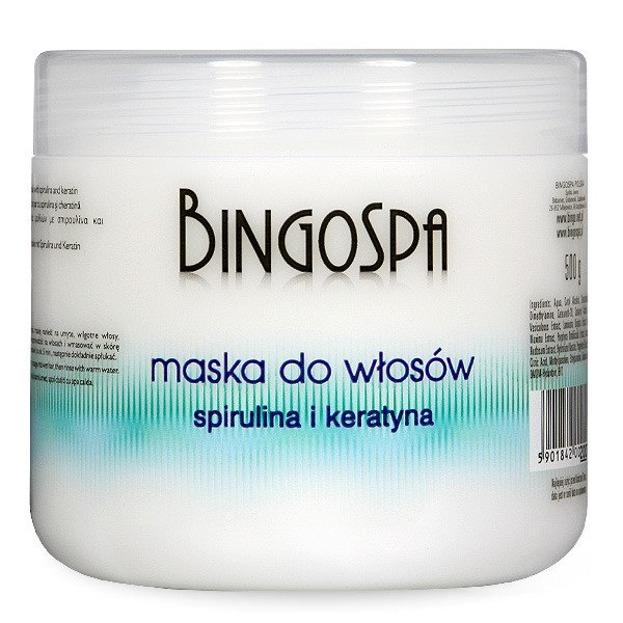 BingoSpa Maska do włosów ze spiruliną i keratyną 500g