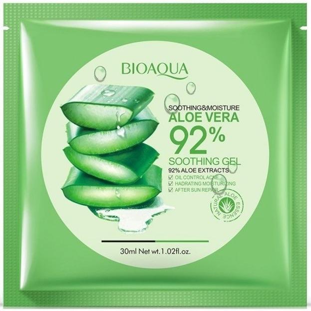 Bioaqua Maska Scoothing &Moisture Aloe Vera 92% Żelowa maseczka do twarzy w płacie 30ml