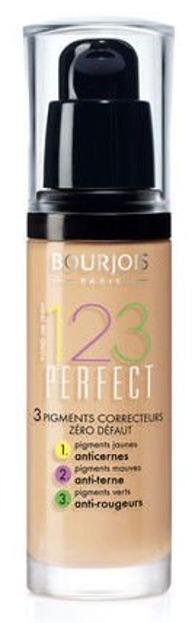 Bourjois 123 Perfect Foundation - Korygujący podkład do twarzy, 55 Dark Beige