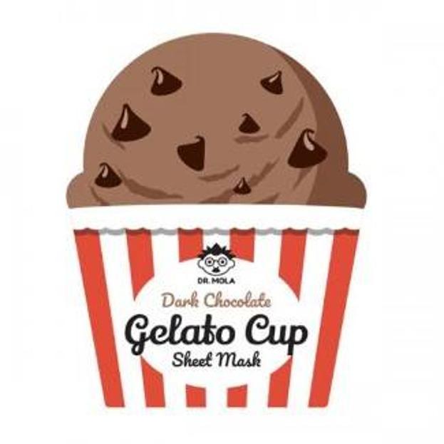 DR.MOLA Gelato Cup sheet mask Wygładzająca maska w płachcie Dark Chocolate 23ml