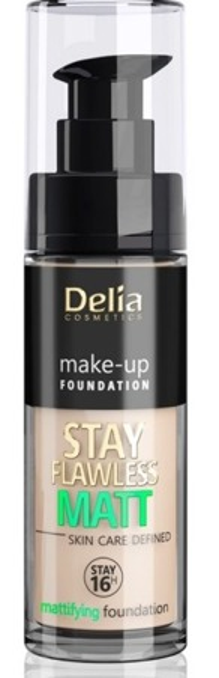 Delia STAY FLAWLESS MATT SKIN DEFINED 16H Podkład matujący 402 30ml