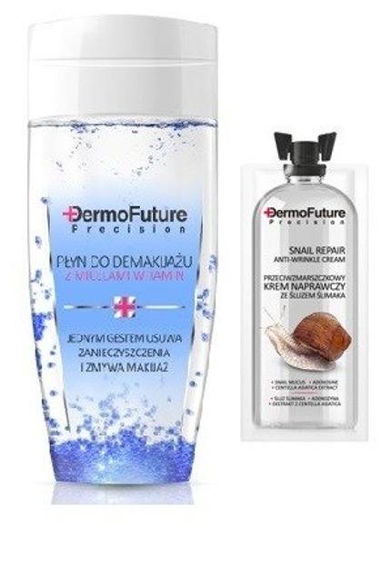 DermoFuture Krem naprawczy ze śluzem ślimaka + Płyn micelarny