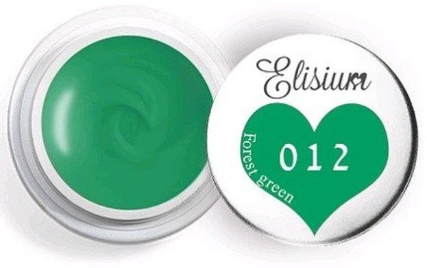 Elisium UV Gel Elisium UV Gel 012 Green Forest 5ml Farba żelowa do zdobień