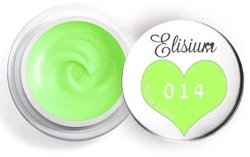 Elisium UV Gel Elisium UV Gel 014 Neon Lime 5ml Farba żelowa do zdobień