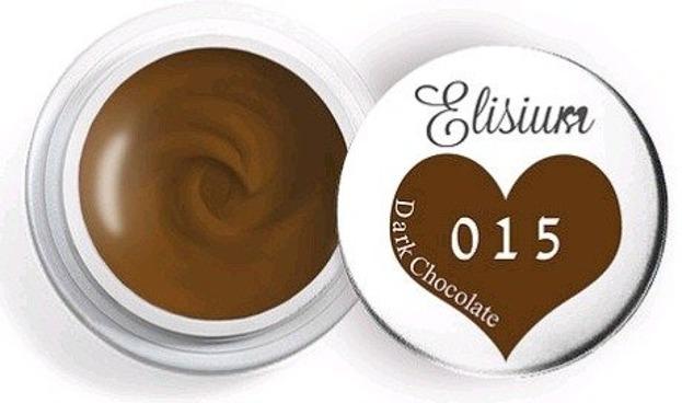 Elisium UV Gel Elisium UV Gel 015  Dark Chocolate 5ml Farba żelowa do zdobień