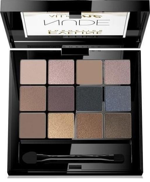 Eveline Cosmetics All In One Paleta cieni do powiek NUDE 01