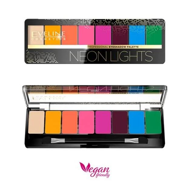 Eveline Cosmetics NEON LIGHTS Paleta cieni do powiek 9,6g