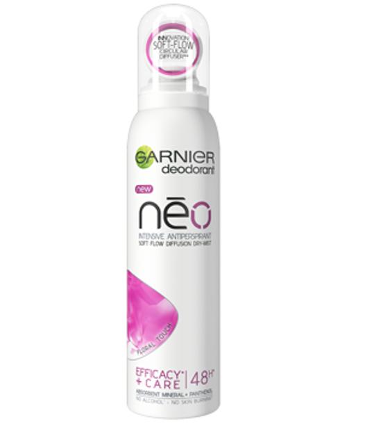 Garnier Neo Dry-Mist Floral Touch Antyperspirant dla kobiet 150ml