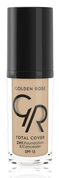 Golden Rose Total Cover 2 in 1 Foundation & Concealer Kryjący podkład i korektor 2w1 05 Cool Sand