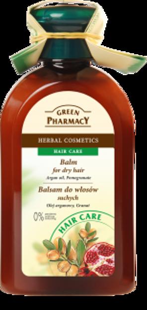 Green Pharmacy Balsam do włosów suchych z olejem arganowym i granatem 300ml