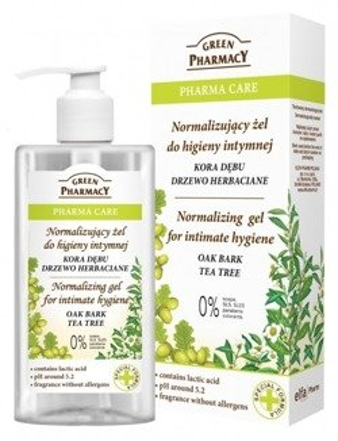 Green Pharmacy Normalizujący żel do higieny intymnej Kora Dębu i Drzewo Herbaciane 300ml