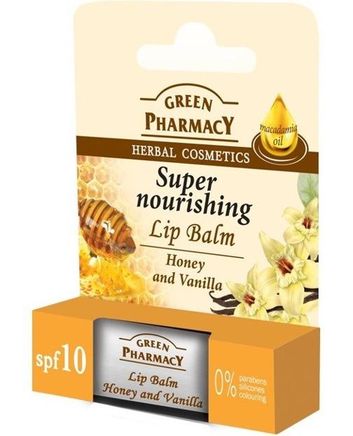 Green Pharmacy Odżywczy balsam do ust Miód Wanilia 3,6g