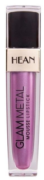 HEAN GLAM METAL Mousse Lipstick Metaliczna pomadka w płynie 506 ROSY PINK