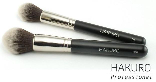 Hakuro H56 - Pędzel do pudru, bronzera, kosmetyków mineralnych