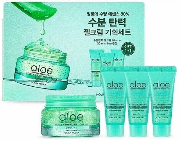 Holika Holika Aloe Soothing Essence 80% Jel Cream Set Zestaw pielęgnacyjny na bazie aloesu