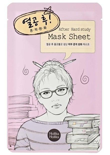 Holika Holika Mask Sheet After Hard Study - Oczyszczająco-łagodząca maseczka w płachcie 18ml