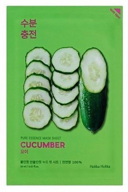 Holika Holika Mask Sheet Pure Essence Cucumber - Maseczka do twarzy w płachcie z ekstraktem z ogórka 20ml