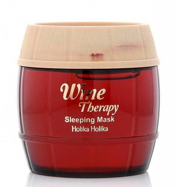 Holika Holika Wine Therapy Sleeping Mask Red Wine - Całonocna maska przeciwzmarszczkowa do twarzy z ekstraktem z czerwonego wina 120ml