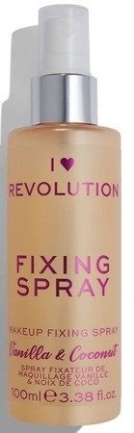 I Heart Revolution Fixing Spray Vanilla Bean&Coconut Mgiełka utrwalająca do twarzy 100ml
