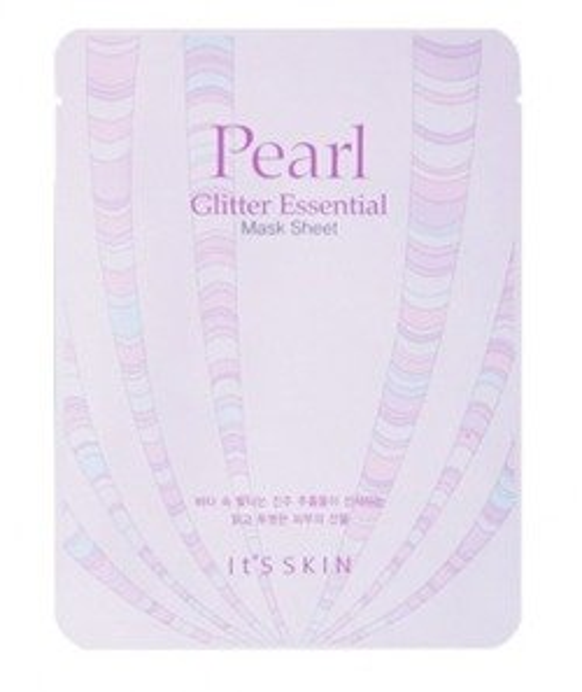 IT'S SKIN Pearl Glitter Essential Mask Sheet - Rozświetlająca maska do twarzy 22g