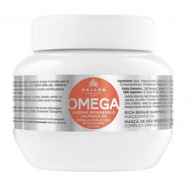 KALLOS OMEGA Regenerująca maska do włosów z kwasami omega i witaminami 275ml