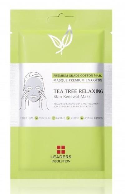 LEADERS Tea Tree Relaxing Mask Maska w płachcie do cery problematycznej 25ml