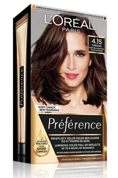 LOREAL PARIS RECITAL PREFERENCE Farba do włosów M1 4.15 Głęboki kasztan