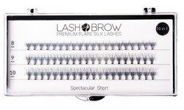 Lash Brow Premium Jedwabne rzęsy w kępkach Spectacular Short