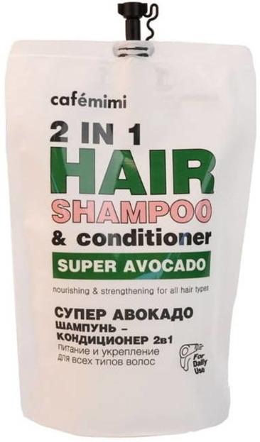 Le Cafe Mimi SUPER AVOCADO Odżywczy szampon i odżywka 2w1 ZAPAS 450ml