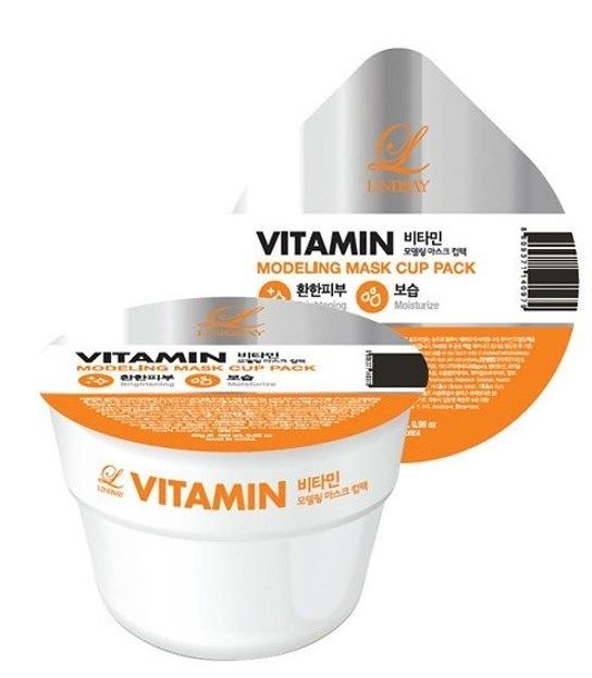 Lindsay Kubek do twarzy Vitamin Modelująca maska odżywcza z witaminami 28g