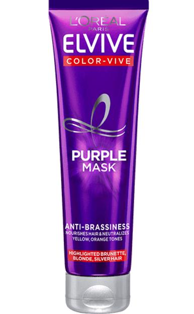 Loreal Elseve Color-Vive Purple Maska do włosów blond, siwych i pasemkami 150ml