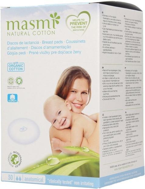 MASMI Wkładki laktacyjne z bawełny organicznej 30szt