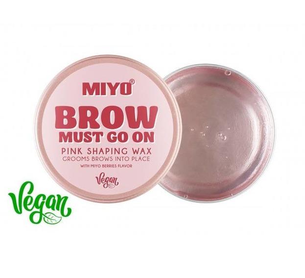 MIYO Brow Must Go On Pink Shaping Wax Wosk do stylizacji brwi 30g