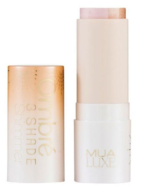 MUA Luxe Ombre 3 Shade Shimmer - Trójkolorowy rozświetlacz w sztyfcie
