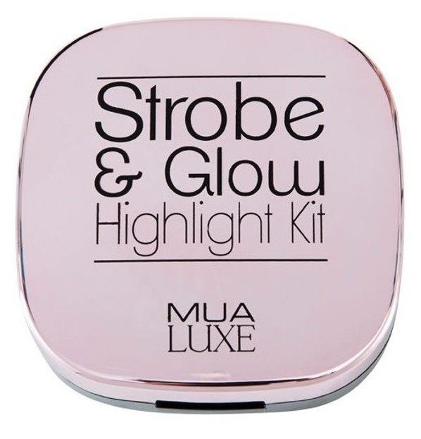 MUA Strobe&Glow Highlight Kit Rozświetlacz do makijażu Pink 17,5g