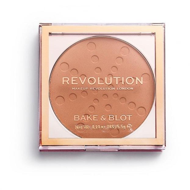 Makeup Revolution Bake&Blot Puder prasowany Peach 5,5g