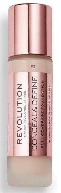 Makeup Revolution Conceal and Define Foundation Full Coverage Kryjący podkład do twarzy F2 23ml