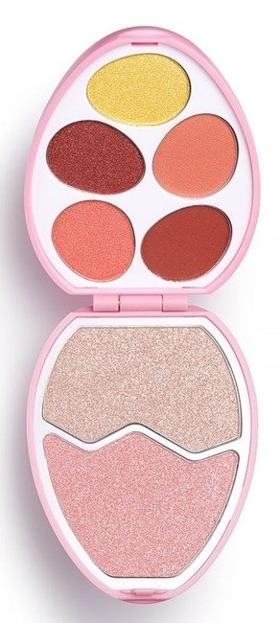 Makeup Revolution EASTER EGG Flamingo Zestaw cieni do powiek i rozświetlaczy