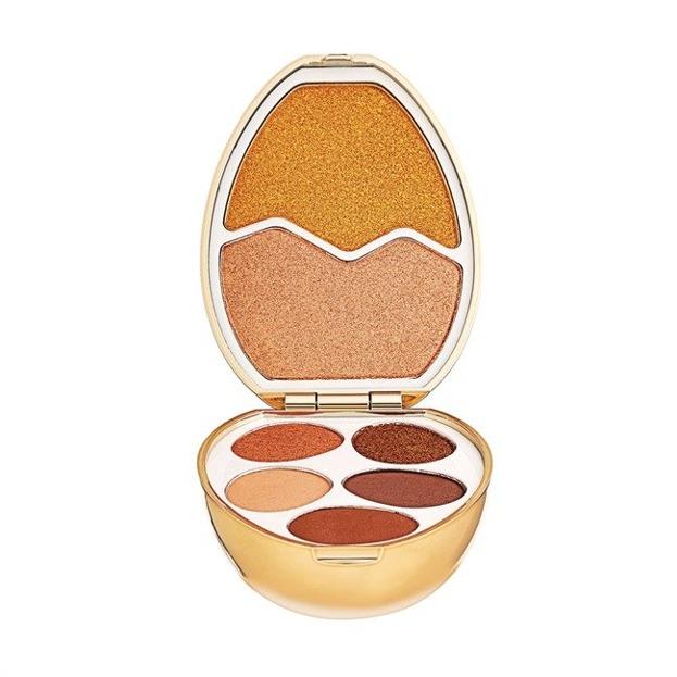Makeup Revolution I love surprise Gold Zestaw cieni do powiek i rozświetlaczy