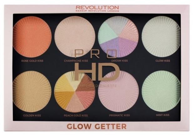 Makeup Revolution Pro HD Glow Getter Palette Paleta rozświetlaczy