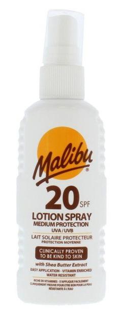 Malibu Lotion Spray Medium Protection 20SPF Spray do opalania 100ml