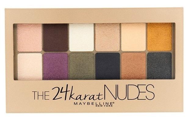 Maybelline 24Karat Nudes Shadow Palette Paleta 12 cieni do powiek